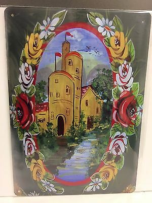 £6 • Buy Roses And Castles Narrow Boat Vintage Retro Signs Repro