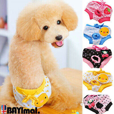 Female Pet Dog Puppy Diaper Pants Physiological Sanitary Short Panty Underwear • 4.01£