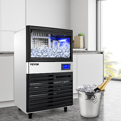 $509.98 • Buy Ice Cube Maker Machine 70Kg/155Lbs Commercial Water Filter R134a Auto-control
