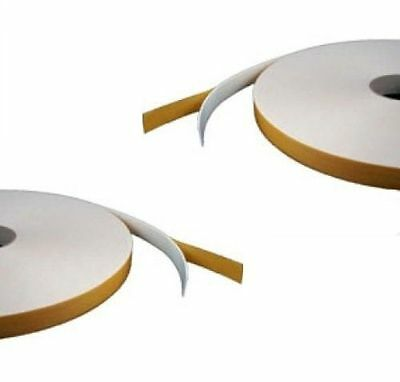 Double Sided Foam Tape - White - 2mm X 28mm X 40m - Security / Glazing / Craft • 16.50£