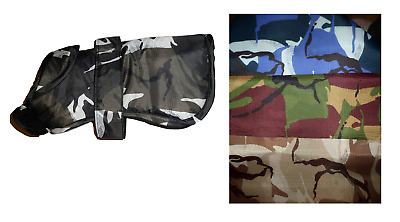 RAINCOAT Camo Lightweight Dog Puppy Shower Coat Jacket Fleece Lined XXS - L • 12£