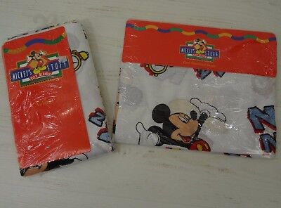 Vintage Mickey Mouse Pillow Sham And Balloon Curtain Valance • 26.48£