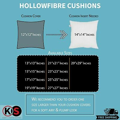 £6.99 • Buy Cushion Pads Odd Sizes Inserts Hollowfiber Inner Scatter Sofa Throw Couch Pillow