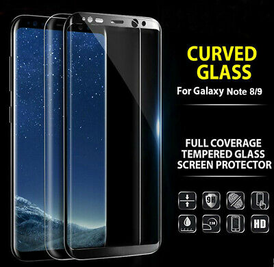AU6.95 • Buy For Samsung Galaxy Note 8 9 10 Plus Tempered Glass Full Cover Screen Protector