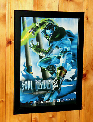 AU69.99 • Buy Soul Reaver 2 Legacy Of Kain Very Rare Small Poster / Vintage Ad Page Framed PS2