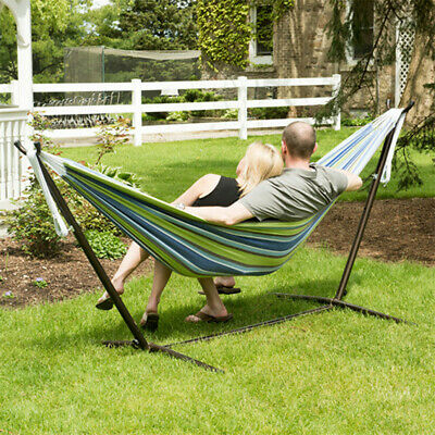 Swing Hammock Hanging Chair Seat Garden With Metal Frame Folding Stand Outdoor • 64.98£