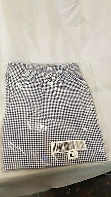 £10.99 • Buy  Army White And Blue Chequer Pattern Chef Trousers Sizes S - L - XL