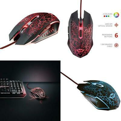 6d2b38967f9 Trust Gxt 105 Izza Illuminated Gaming Mouse 800-2400 Dpi 6 Responsive  Buttons • 24.85