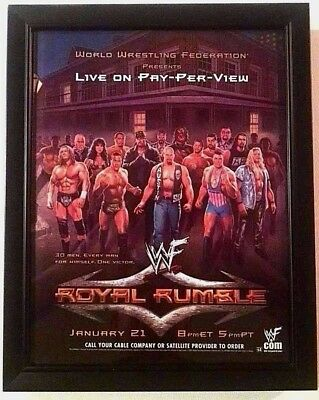 ALWAYS ROLLED NEVER FOLDED WCW WWF NXT 2007 ROYAL RUMBLE PPV POSTER WWE ECW