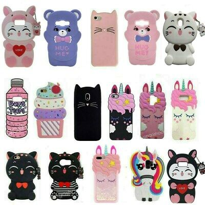 $ CDN5.12 • Buy For Samsung S7 8 9 10 Plus Note 8 Cute 3D Cartoon Soft Silicone Phone Case Cover