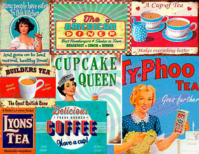 Vintage Retro Diner Cafe Restaurant Advertisement Metal Wall Signs And Plaques • 4.95£