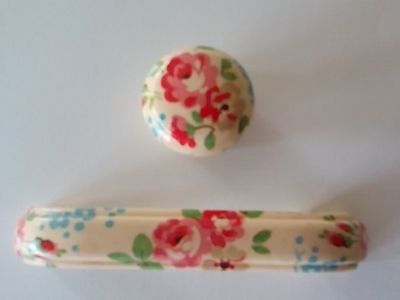 Handcrafted Door Knobs & Drawer Pulls Using 'Cath Kidston' Flowers Papers  • 2.60£