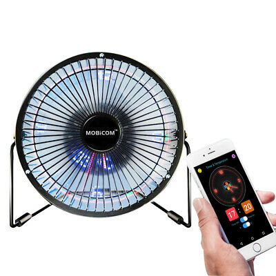 AU44.90 • Buy Mini Fan, Led Clock Fan, Usb Mobile Bluetooth Fan, 6-inch DIY Fan
