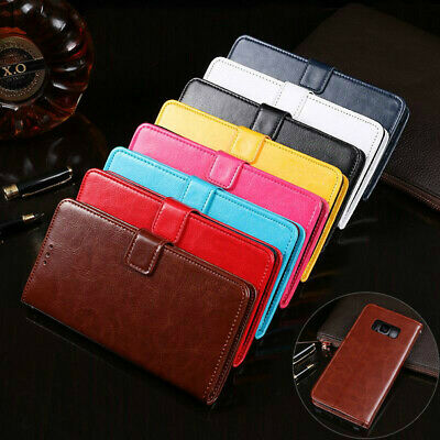 AU8.99 • Buy For Samsung Galaxy S9 S8 Plus S7 Edge Wallet Leather Case Flip Card Cover