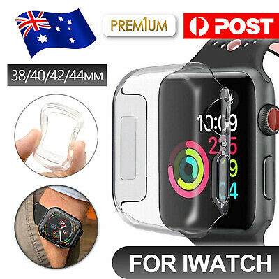 AU4.35 • Buy For IWatch Series 3 Case IPhone Watch 1 2 3 4 Clear Case Cover 42 38 40 44