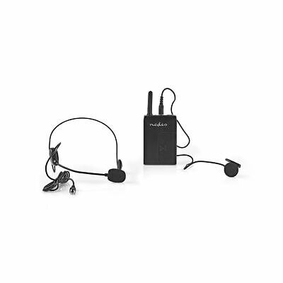 Nedis Wireless Microphone Set 16-Channel Headset +Bodypack Up To 6 Hours Battery • 51.79£