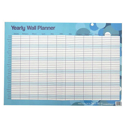Large Reusable Daily / Weekly / Yearly Wall Planner - Spots Design - A2 Or A3  • 6.65£