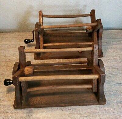 Primitive Solid Wood Yarn Winder Spinner Or Fishing Line Dryer Lot Of 2 • 93.62£