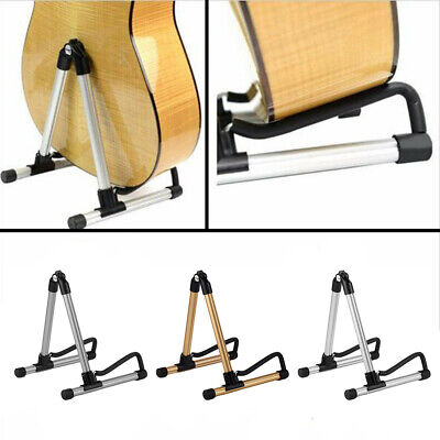 AU26.80 • Buy Electric Acoustic Bass Portable Folding Guitar Stand Floor Rack Foldable Holder