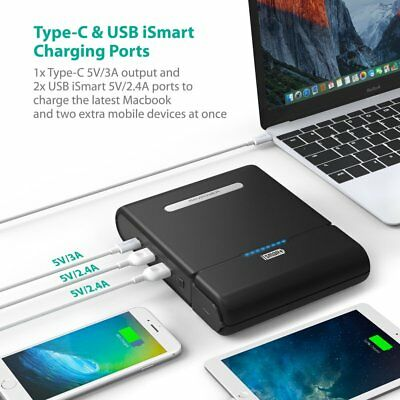 AU135.88 • Buy RAVPower AC Portable Charger 20000mAh-32000mAh Type-C Dual 3 Ports PD
