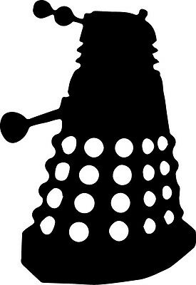 £1.89 • Buy Window Wall Vehicle Display Dr Who Dalek Silhouette Decal Vinyl Sticker Decal