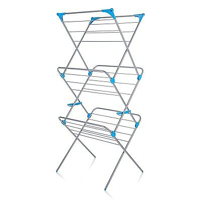 Minky 3 Tier Indoor Airer, 15m Drying Space, Silver • 49.99£
