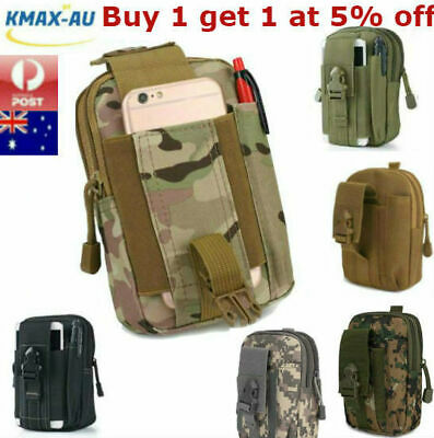 AU13.99 • Buy Utility Multi Purpose Tactical Waist Bag Belt Molle Pouch Military Wallet Pack