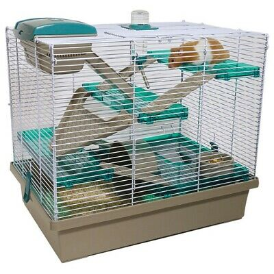 Rosewood Pico XL Hamster Cage, Loft Bed Water Bottle Wheel Food Bowl Or Shavings • 4.39£