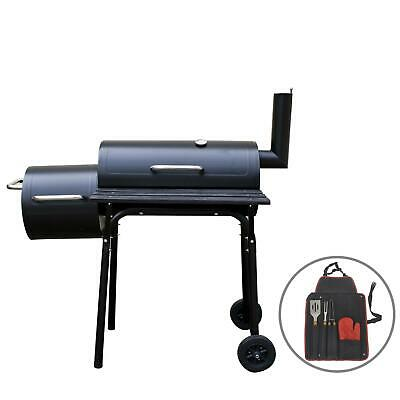 Outdoor Garden Multi Purpose Bbq Smoker With Tool Set Cooking Grilling Barbeque • 108.99£