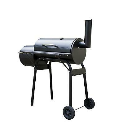 Large Oil Drum Barrel Style Bbq Smoker Cart Barbeque Meat Food Smoking Cooking • 69.95£