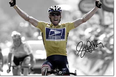 Lance Armstrong Photo Print Poster Pre Signed - 12 X 8 Inch  A+ Quality • 7.99£