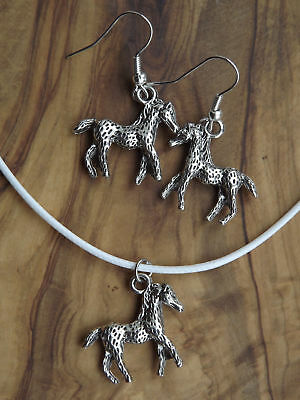 Appaloosa Horse Earrings And Necklace Set - Gift Jewellery • 5.95£