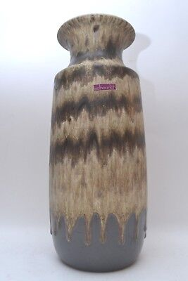 Stunning Vintage West German Pottery Scheurich Fat Lava Floor Vase 239-41 • 45£