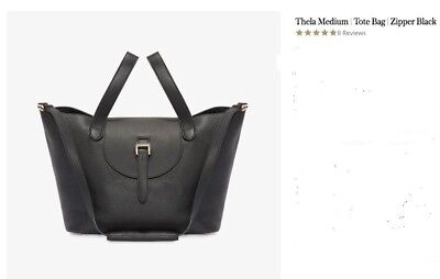 AU368.33 • Buy MELI MELO THELA  Medium Tote Bag With ZIPPER MSRP $665 Made In ITALY Celebs' Fav