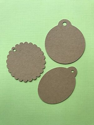 20 Round Or Oval Kraft Gift Tags • 1£