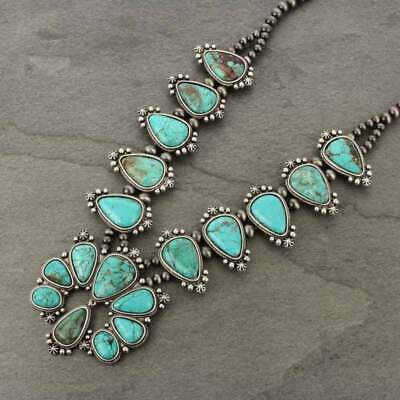 $ CDN148.43 • Buy *NWT* Full Squash Blossom Natural Turquoise Necklace-7316570089
