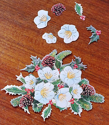 £3 • Buy X 6 SETS TATTERED LACE CHARISMA 250gsm DIE CUTS - HOLLY 10 Colour Combinations