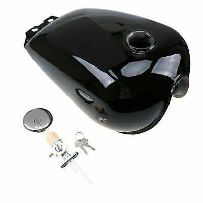 $217.54 • Buy 1x Motorcycle Fuel Tank With Keys 9L/2.4Gal Cover For Suzuki GN125 Black Durable