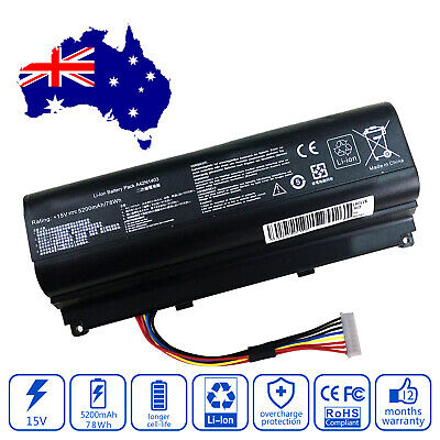 AU55.59 • Buy Battery For Asus ROG G751JT-T7019D G751JT-T7019H G751JT-T7026H Laptop 5200mAh