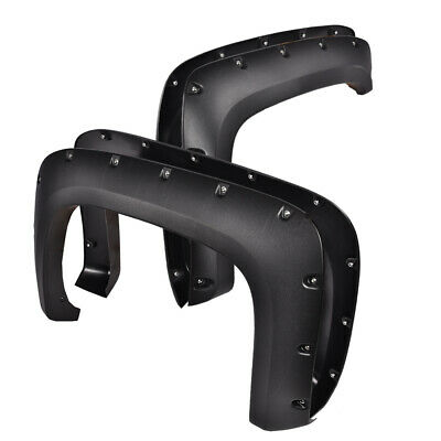 $85.35 • Buy Fender Flares For Chevy 07-13 Silverado 1500 2500HD Pocket Rivet Bolt-On Style