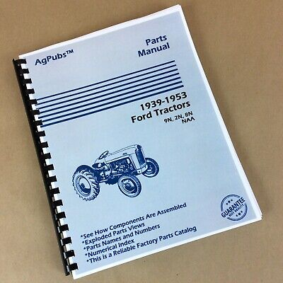 $ CDN25.39 • Buy Parts Assembly Manual For Ford 2N 9N 8N NAA Tractor Exploded View Catalog '39-53