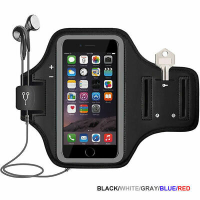 For Samsung Galaxy S9 S10 S20+ Sports Armband Gym Running Jogging Case Cover Bag • 8.09£