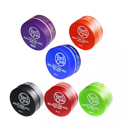 3x RED ONE AQUA HAIR WAX FULL FORCE 150ML (THREE  PIECES) CHOOSE COLOURS • 11.49£