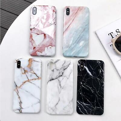 AU7.99 • Buy For IPhone X XS Max XR Soft TPU Case Marble Shockproof Silicone Gel Cover