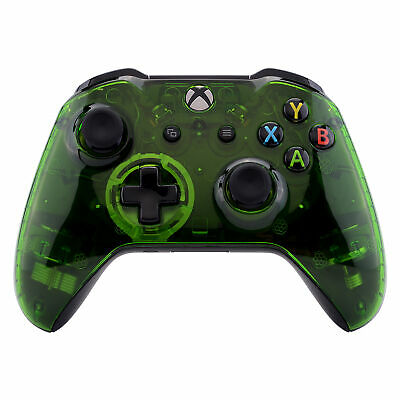 Crystal Clear Green Faceplate Front Housing Shell For Xbox One S X Controller • 14.73$