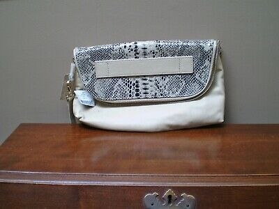 $ CDN50 • Buy Danier New With Tags 100% Cream & Reptile Embossed Handbag