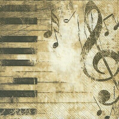 £1.36 • Buy 4x PAPER NAPKINS For Decoupage MUSIC PIANO
