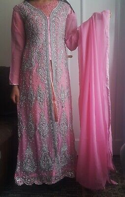 £64.99 • Buy Asian Pakistani Indian Wedding Party Light Pink Gown Dress