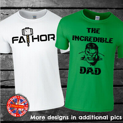 Marvel Inspired Father's Day T-shirt, Hulk, Iron Dad, Batdad, FaTHOR, Gift, Up  • 9.99£