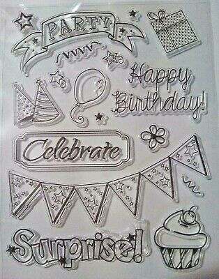 Birthday Cake Party Clear Ink Stamp Card Making Scrapbooking Journal Home Decor • 4.99£